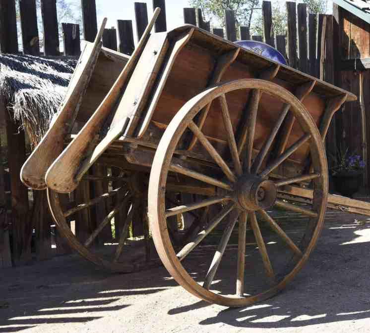 wagon wheel at Arizona Renaissance Festival