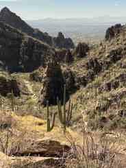 city views Ventana Canyon hiking