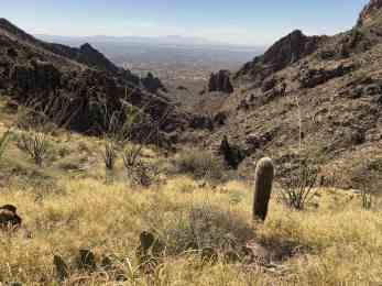 rocky steep hiking trail Ventana Canyon