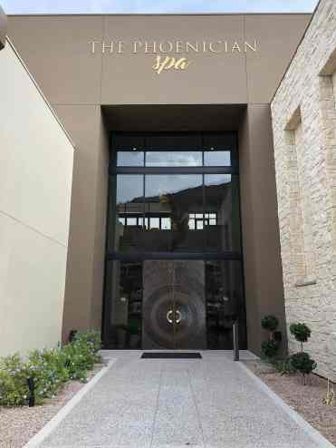 Phoenician Spa entrance Scottsdale
