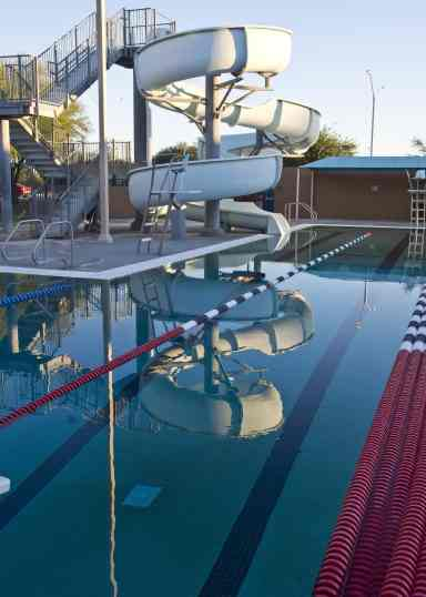 swimming laps waterslide Clements Pool Tucson