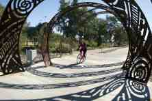bicycling path near Udall Park