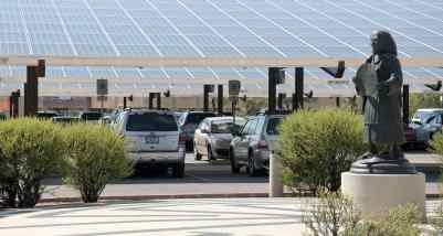 solar covered parking Udall Park