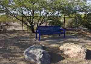 bench dog facility Purple Heart Park
