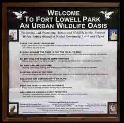 Fort Lowell Park Urban Wildlife Oasis