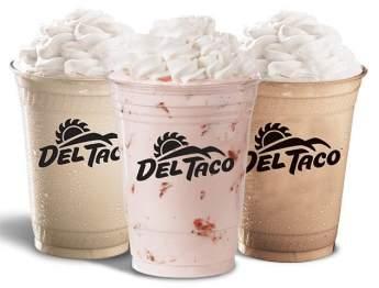 Del Taco Premium Milkshakes