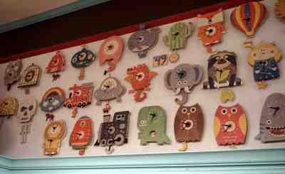 kids wall clocks Mildred Dildred