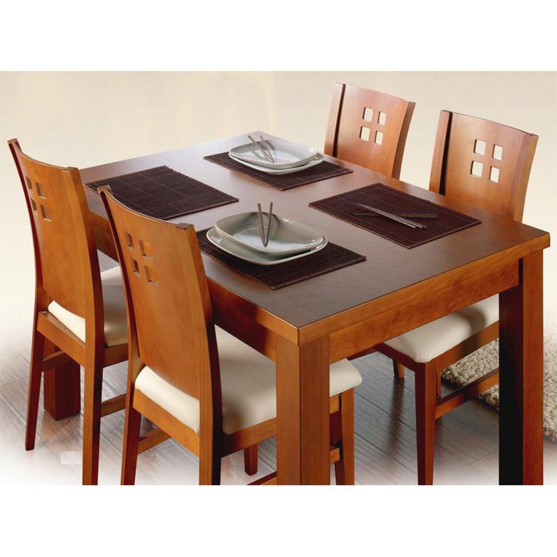 Mesa de comedor rstica y extensible en madera para salones y bodegas