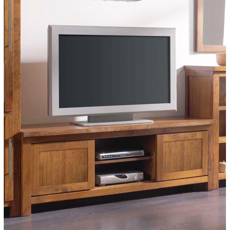Mueble de televisin bajo y con 2 puertas correderas
