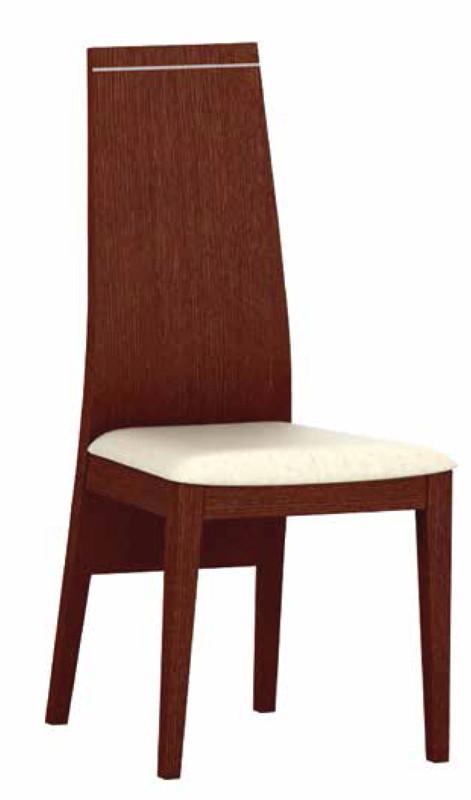 Silla para salones modernos con mesa a juego y vitrina