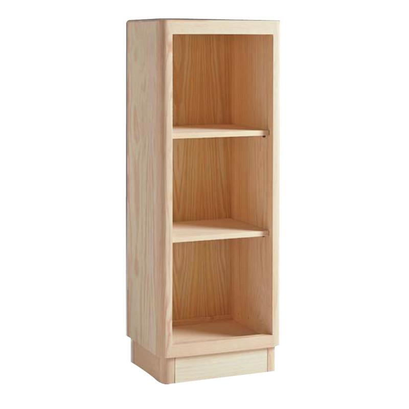 Librera baja y estrecha en madera maciza de pino