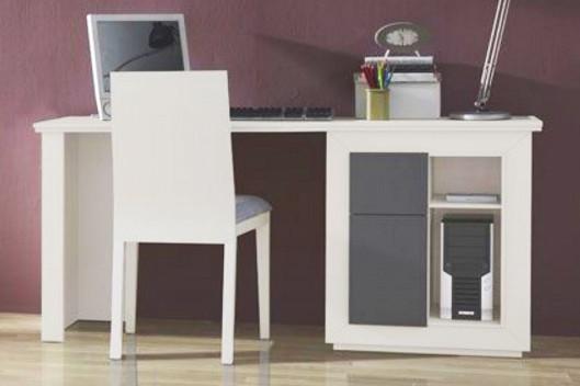 Mesa de ordenador para dormitorios juveniles madera roble