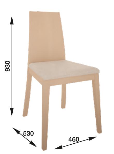 Silla moderna con respaldo de tablero de madera y asiento