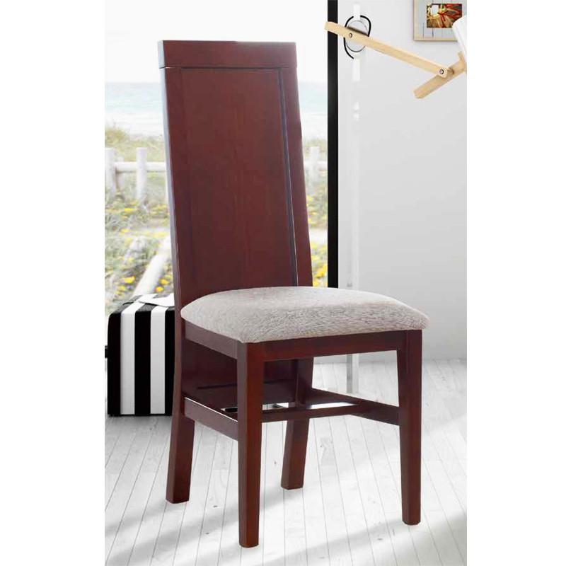Silla modelo Antea con asiento pretapizado y respaldo de