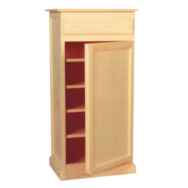 Zapatero con 1 puerta en madera maciza