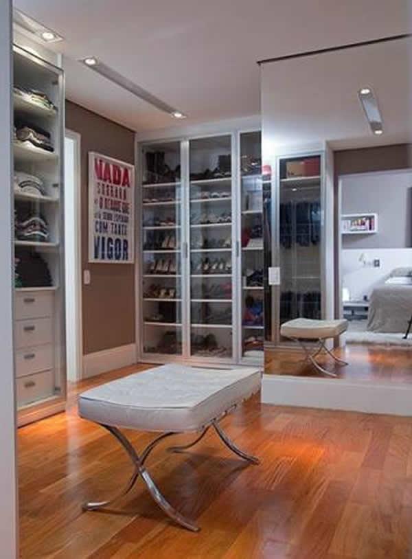 Closets Modernos e Grandes 37 inspiraes