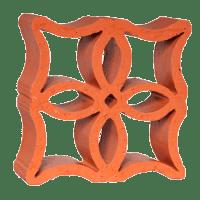 Elemento Vazado Cerâmico Reto Flor