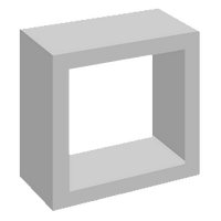 Elemento Vazado de Concreto 1 Furo