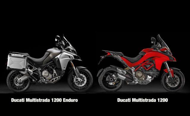 Comparação Multistrada 1200 Enduro X Multistrada 1200