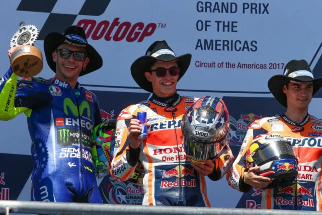 Pódio do MotoGP das Américas - Foto MotoGP
