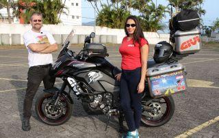 Casal paulista irá se aventurar de moto até a Bolívia