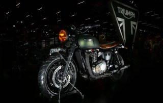 Bonneville T120 do chef Henrique Fogaça