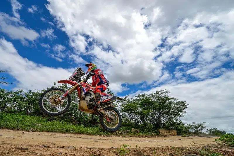 Gregorio Caselani, piloto da equipe Honda Racing de Rally Cross Country. Crédito: Fábio Davini/DFotos/Mundo Press