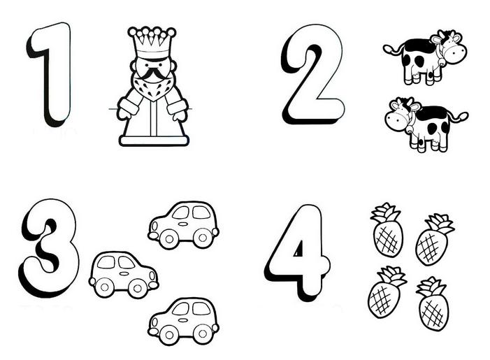 Numeros De 1 A 5 Para Colorir