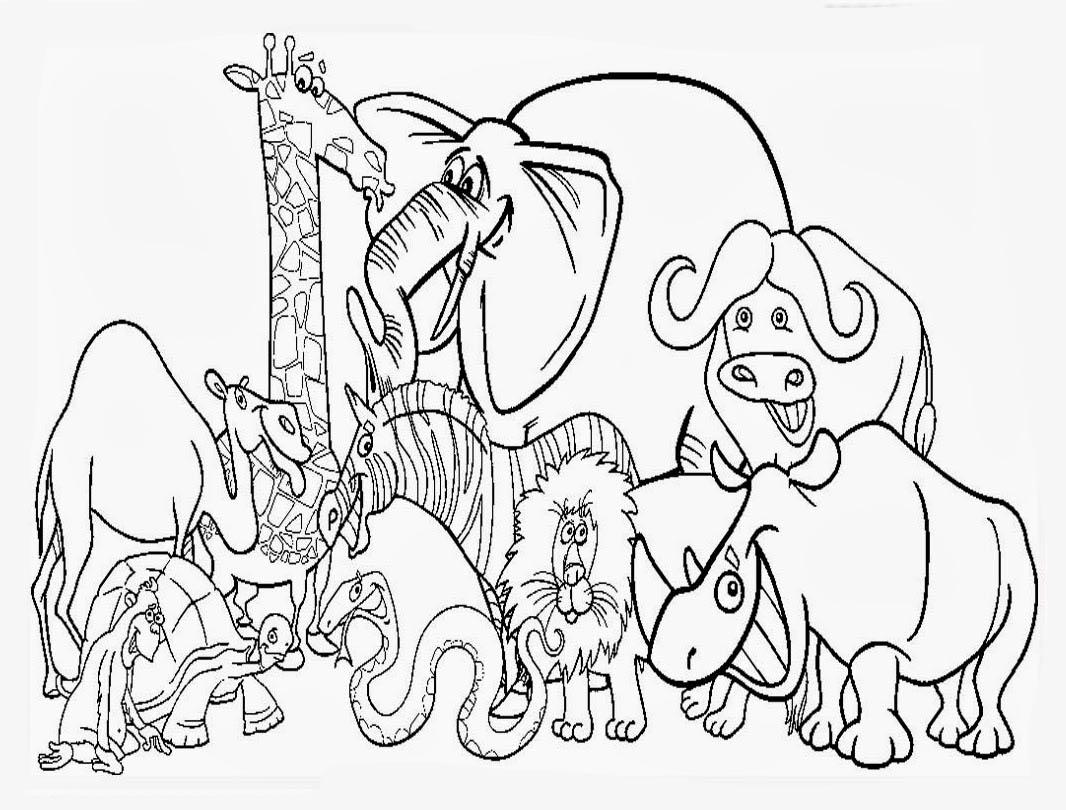 Wild Animals Coloring Worksheet Printable Worksheets And