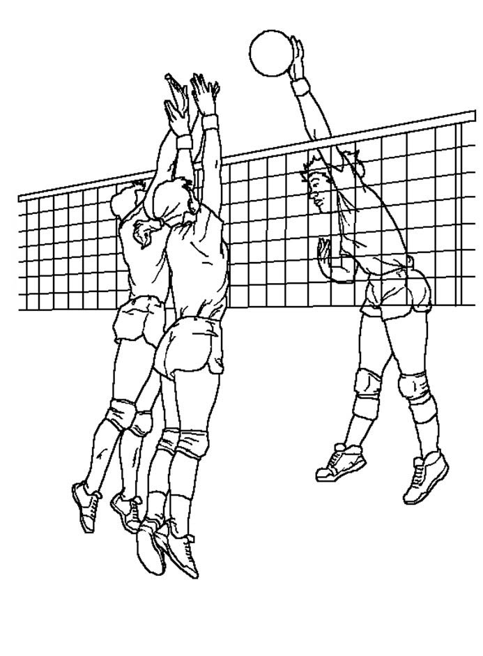 Coloring Pages Of Volleyball Players