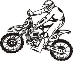 Desenho de Motocross para colorir   Tudodesenhos