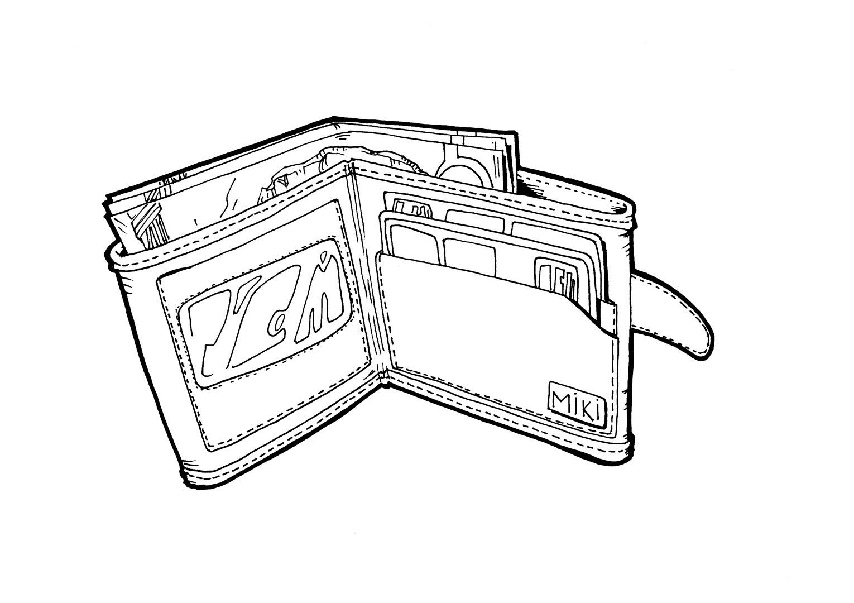 Desenho de Carteira de dinheiro para colorir  Tudodesenhos