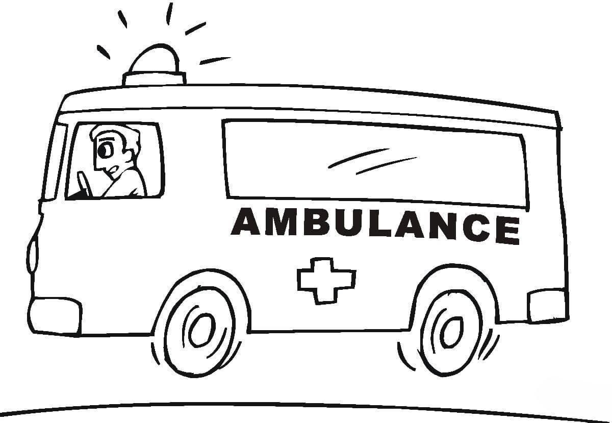 Desenho De Motorista Da Ambulancia Para Colorir