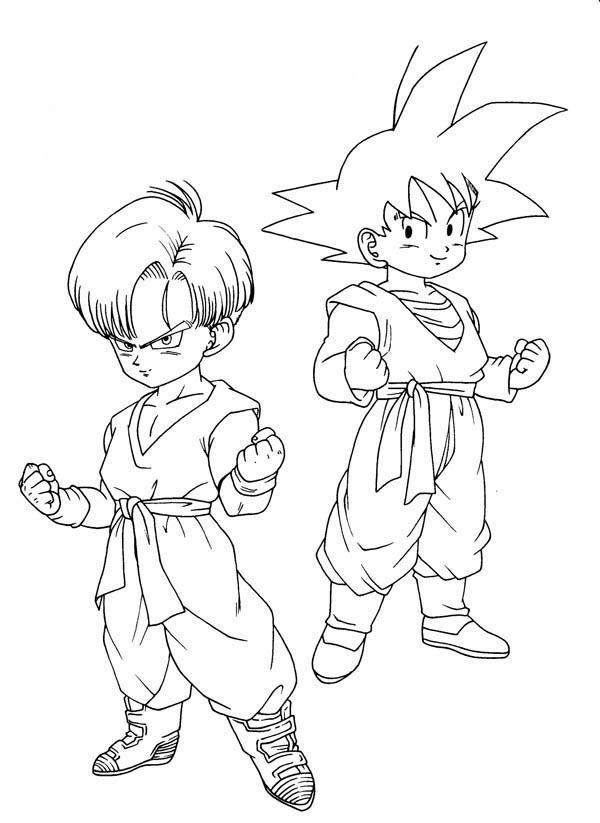 Desenho De Trunks E Son Gohan Para Colorir Tudodesenhos