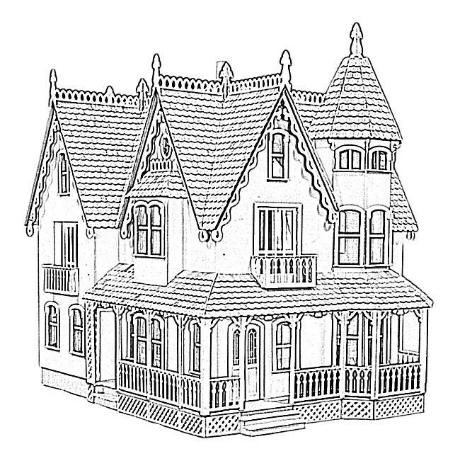 Desenho De Casa Grande Para Colorir Tudodesenhos