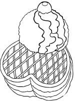 Desenho de Waffles e sorvete para colorir   Tudodesenhos