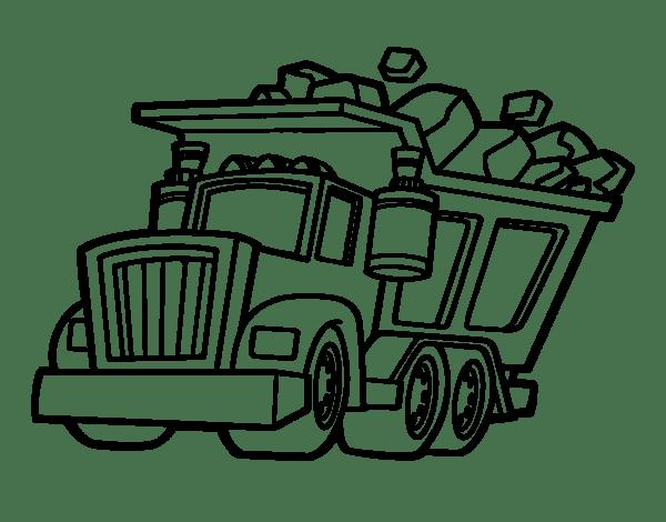 Colorear Camion De Carga