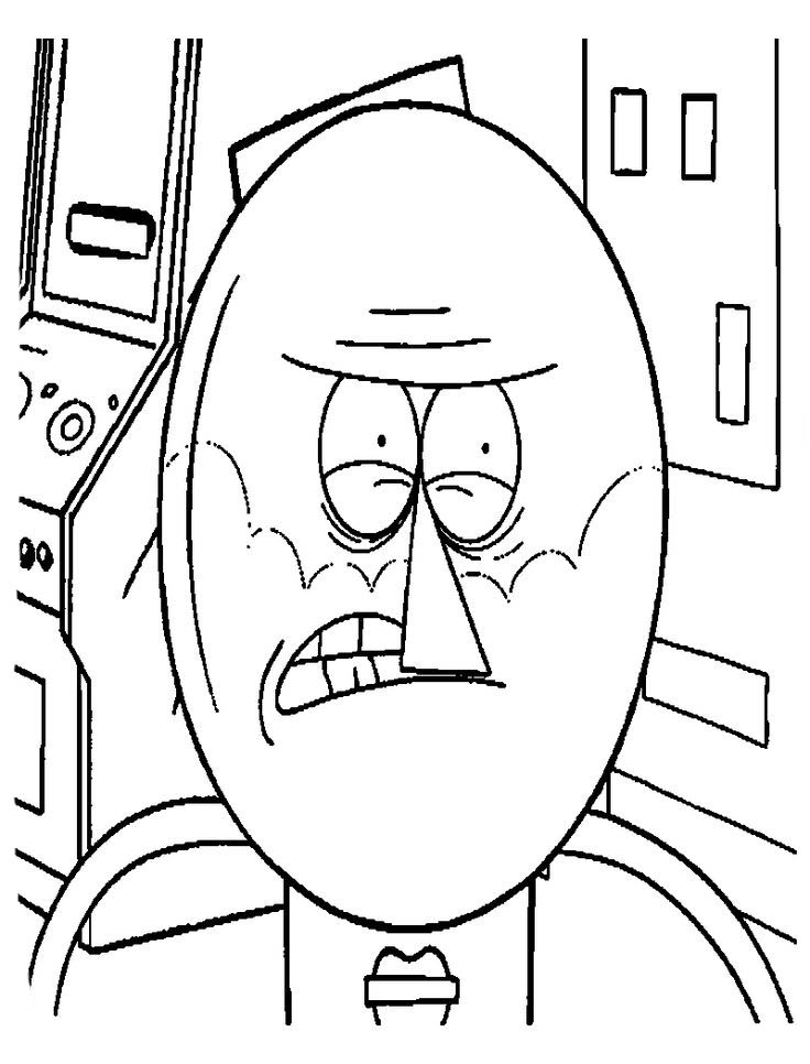 Regular Show Coloring Pages