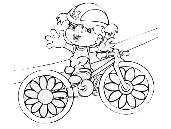 Desenho De Xuxinha Na Bicicleta Para Colorir