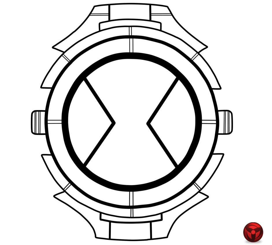Ben 10 omnitrix coloring pictures to print murderthestout for Ben 10 coloring pages games