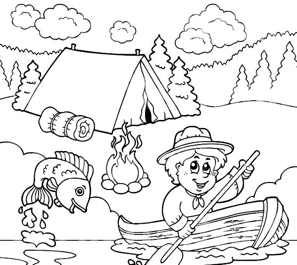 Grandpa Fishing Pages Coloring Pages
