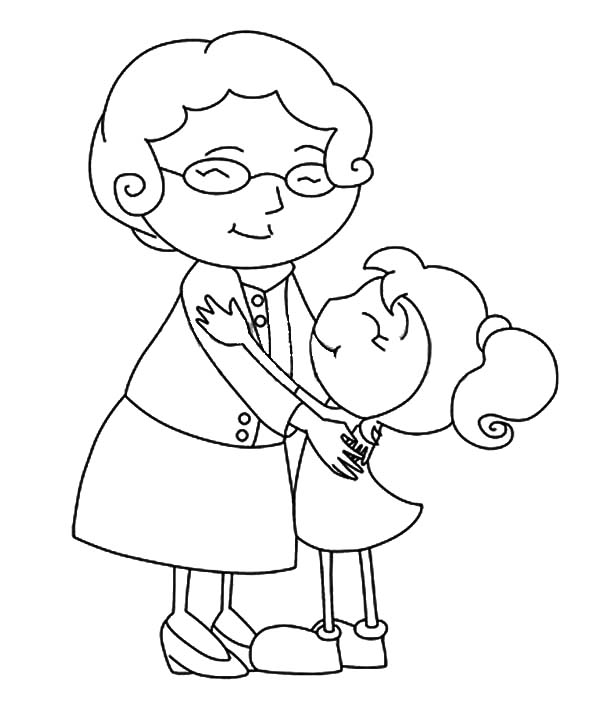 Grandma And Granddaughter Coloring Pages Coloring Pages
