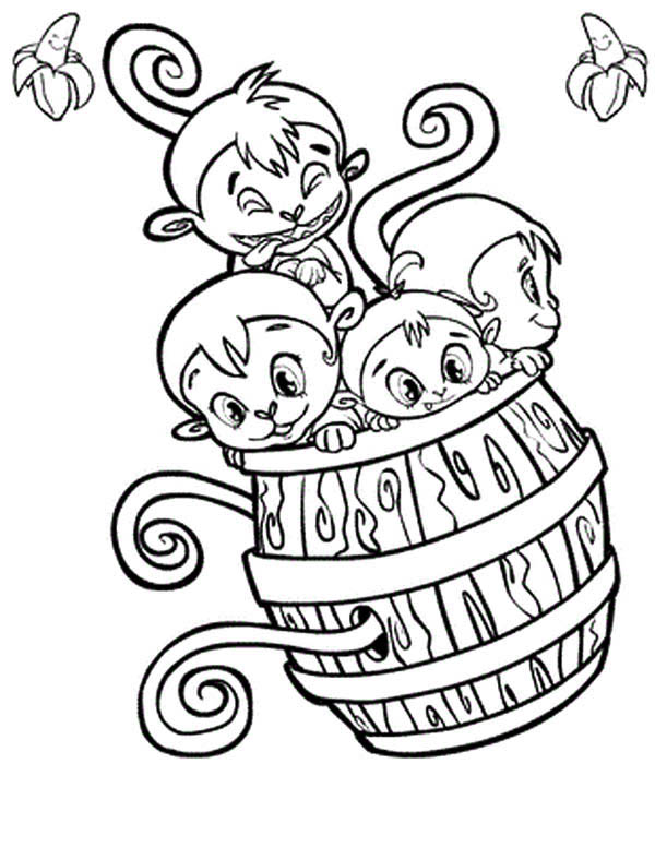 Barrel Of Monkeys Page Coloring Pages
