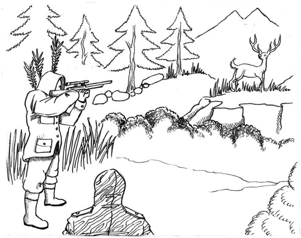 25 Hunting Landscapes Coloring Pages Realistic Pictures And Ideas