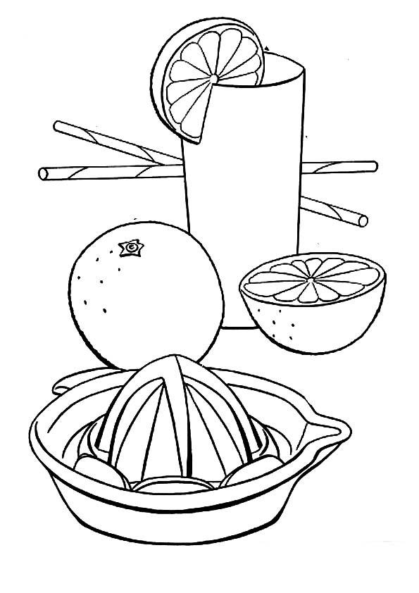 Desenho de Espremedor de suco manual para colorir
