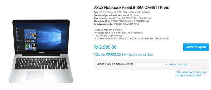 Asus K555LB