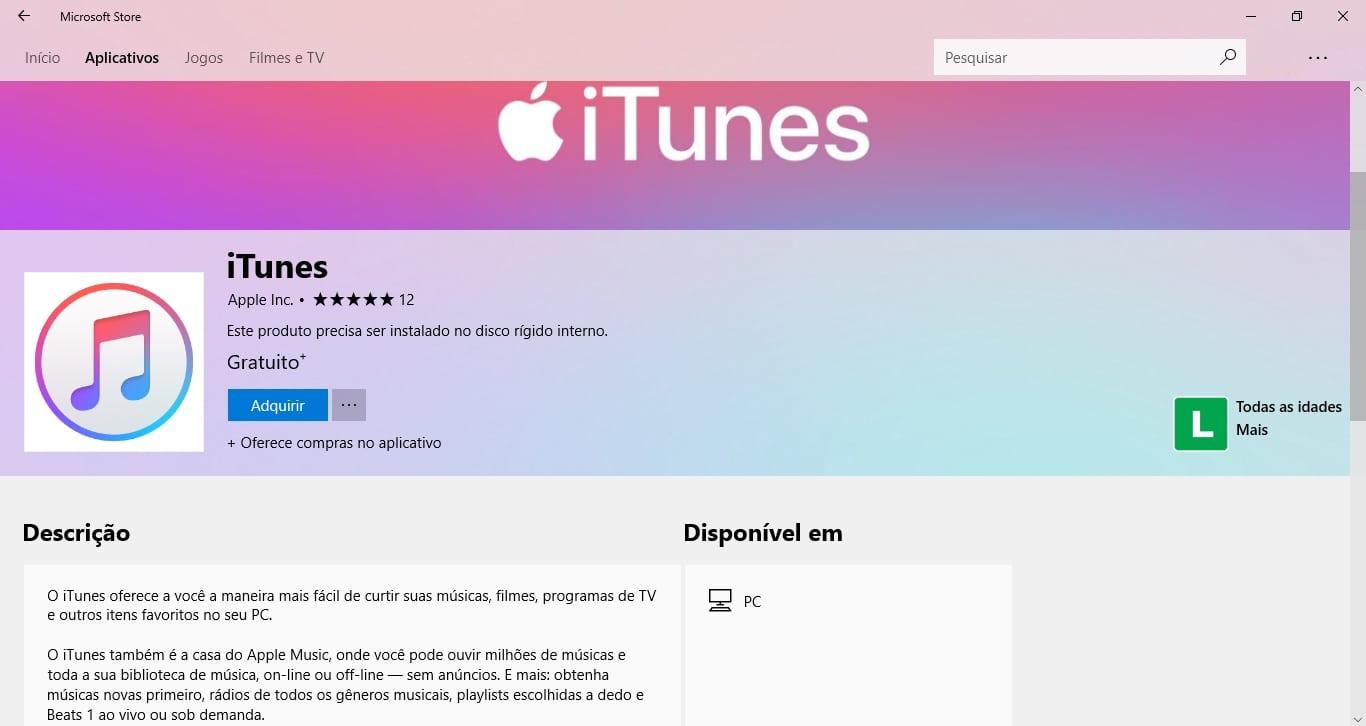 Baixe agora: iTunes está disponível para download na