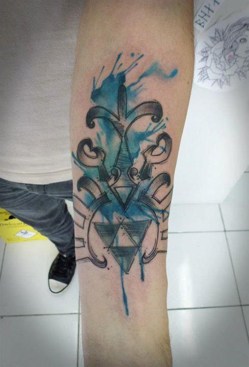 Tatuagem feita por Max do el cuervo.