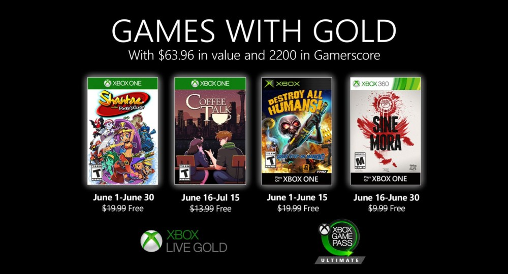 Xbox Games With Gold Junho 2020