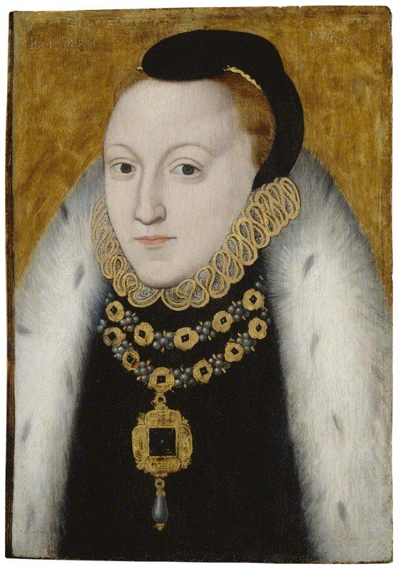 by unknown artist circa 1560; � National Portrait Gallery, London